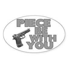 Piece Be With You Oval Decal