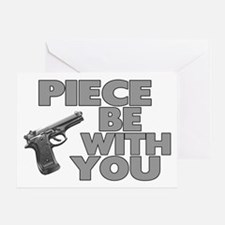 Piece Be With You Greeting Card