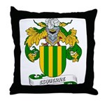 Esquerre Coat of Arms Throw Pillow