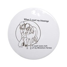 Mini Blessings 2 Ornament (Round)
