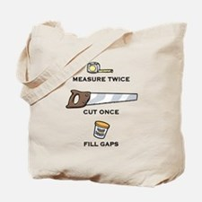 Fill Gaps Tote Bag