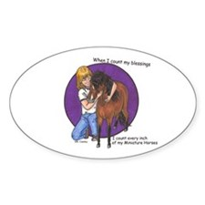 Bay Blessings 2 Oval Decal