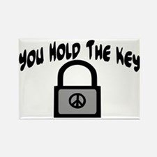 Key To Peace Rectangle Magnet