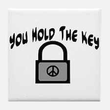 Key To Peace Tile Coaster