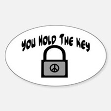 Key To Peace Oval Decal
