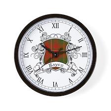 Hayes Tartan Shield Wall Clock