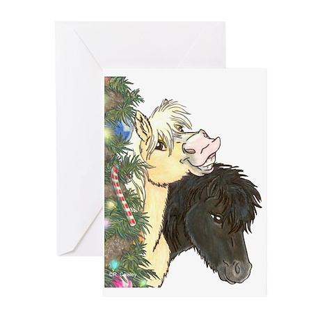 Minis Xmas Treeside Greeting Cards (Pk of 20)