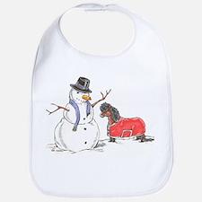 Snowman Treat Bib