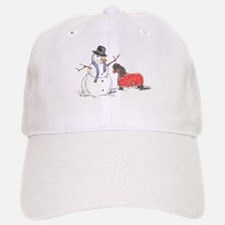Snowman Treat Baseball Baseball Cap