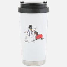 Snowman Treat Stainless Steel Travel Mug