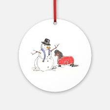 Snowman Treat Ornament (Round)