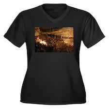 Underground Women's Plus Size V-Neck Dark T-Shirt