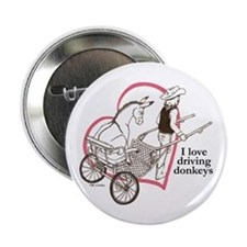 """Driving Donkeys 2.25"""" Button"""