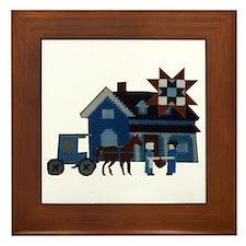 Amish People Framed Tile