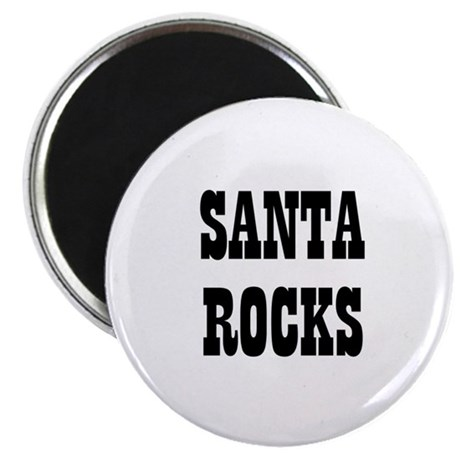 "SANTA ROCKS 2.25"" Magnet (10 pack)"