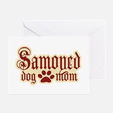 Samoyed Mom Greeting Card
