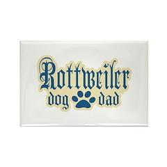Rottweiler Dad Rectangle Magnet (100 pack)