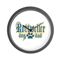 Rottweiler Dad Wall Clock