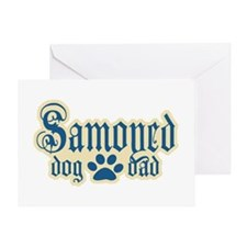 Samoyed Dad Greeting Card