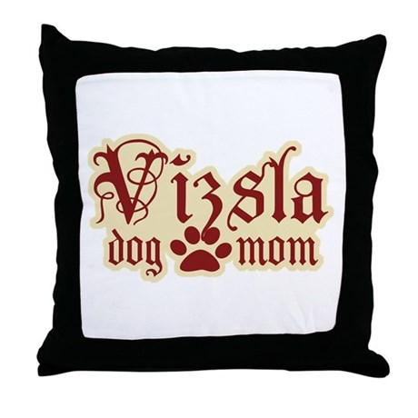 Vizsla Mom Throw Pillow