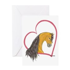 Buckskin Heartline Greeting Card