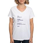 """U Guys Making Out?"" Women's V-Neck T-Shirt"