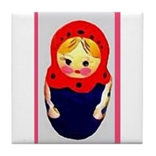 Russian Doll  Tile Coaster