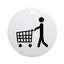 shopping cart icon Ornament (Round)