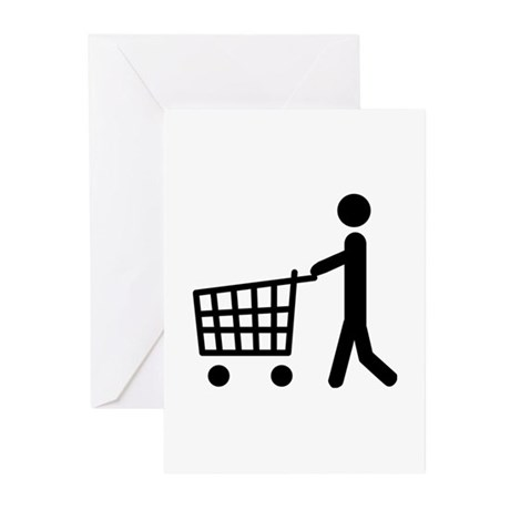 shopping cart icon Greeting Cards (Pk of 20)