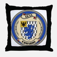 Seal - Edwards Throw Pillow