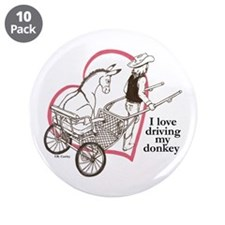 """Driving My Donkey 3.5"""" Button (10 pack)"""