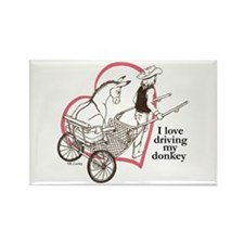 Driving My Donkey Rectangle Magnet