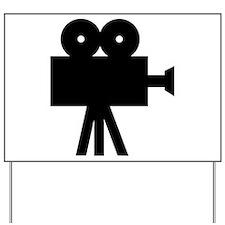 hollywood movie camera Yard Sign