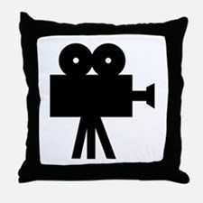 hollywood movie camera Throw Pillow