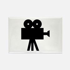 hollywood movie camera Rectangle Magnet (10 pack)