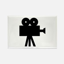 hollywood movie camera Rectangle Magnet