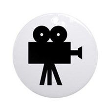 hollywood movie camera Ornament (Round)
