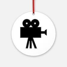 hollywood movie camera Ornament (Round)