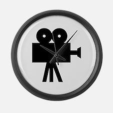 hollywood movie camera Large Wall Clock