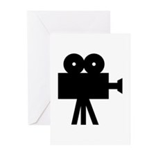 hollywood movie camera Greeting Cards (Pk of 20)