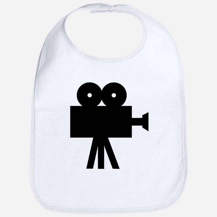 hollywood movie camera Bib