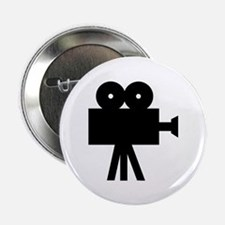 """hollywood movie camera 2.25"""" Button (100 pack)"""
