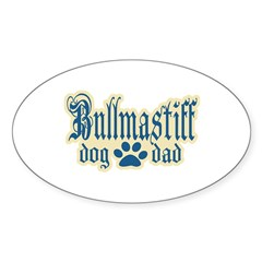 Bullmastiff Dad Sticker (Oval 50 pk)