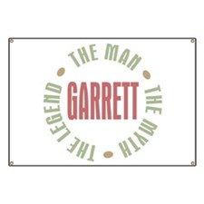 Garrett the Man Myth Legend Banner