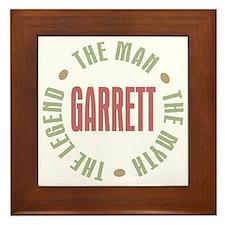 Garrett the Man Myth Legend Framed Tile