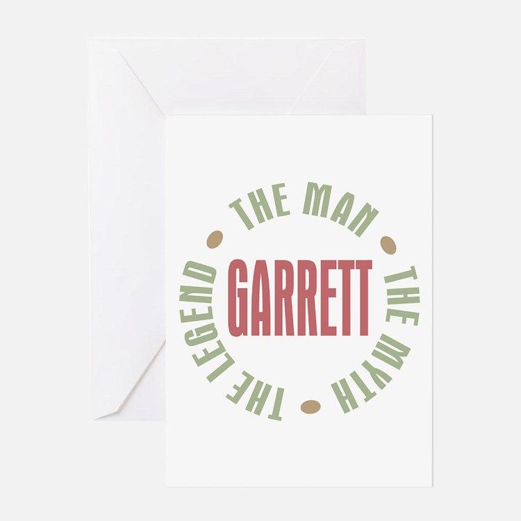 Garrett the Man Myth Legend Greeting Card