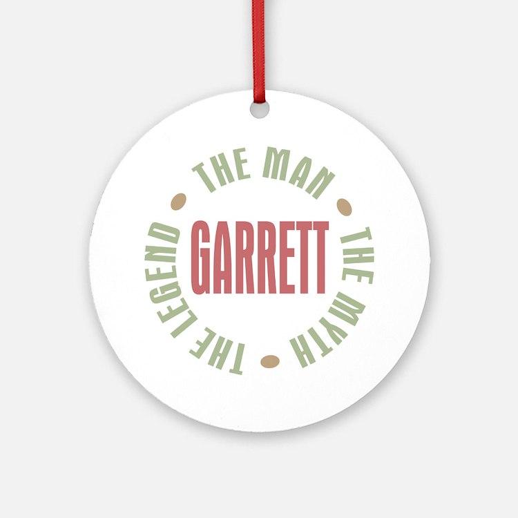 Garrett the Man Myth Legend Ornament (Round)