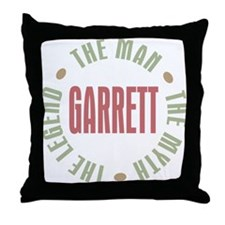 Garrett the Man Myth Legend Throw Pillow