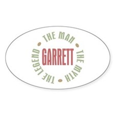 Garrett the Man Myth Legend Oval Decal