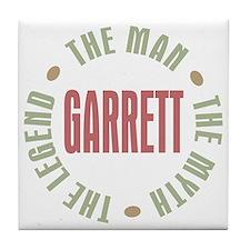 Garrett the Man Myth Legend Tile Coaster